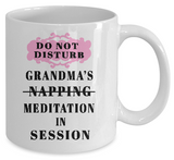 Meditation In Session Mug