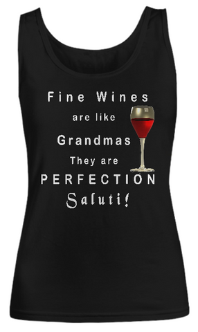 Women Tank Top-Fine Wines are Like Grandma
