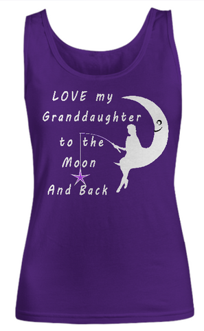 Love My Granddaughter to the Moon and Back-Women Tank Top