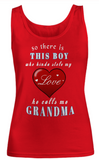 There's this boy heart Grandma-Women Tank Top