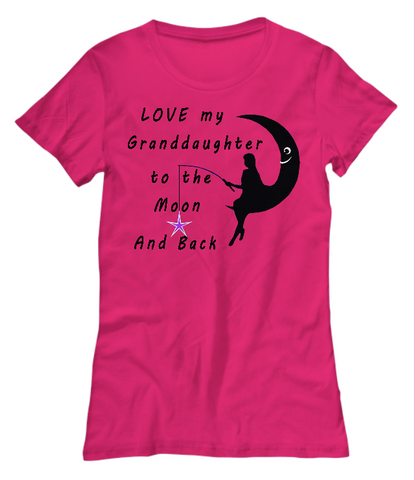 Love My Granddaughter-Women T-Shirts