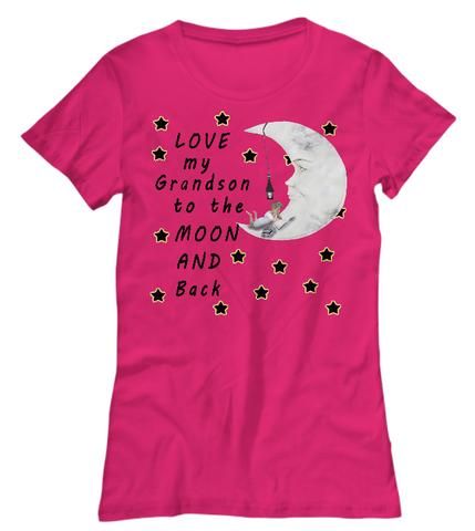 Love My Grandson-Women T-Shirts