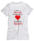There's this Boy stole Heart Grandma-Women T-Shirts