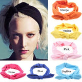 Hair Accessories-1 Pc Elastic Stretch Plain Rabbit Bow Style Hair Headband