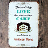 Decorative Metal Wall Signs- YOU CAN'T BUY LOVE...  20X30cm