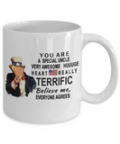 Funny Donald Trump Fathers Day Mug,You are a very special uncle Trump,very awesome uncle trump mug