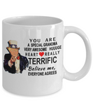 Funny Donald Trump Mothers Day Mug,You are a special grandma Trump,very awesome grandma coffee mug trump