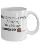 Funny Crochet Coffee mug - 11 oz white ceramic cup.