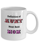Aunt Mug, Aunt Coffee Mug, Auntie Mug, Gift for Aunt, Coffee Mug for Aunt