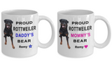 Couple Mug Set, Add Personalized Name and Picture of Your Favorite 4 Legged Friend