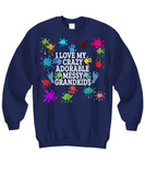 Adorable,Crazy,Messy Grandkids Sweatshirts