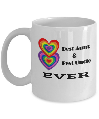 Aunt Mug, Uncle Mug, Coffee Mug, Aunt Coffee Mug, Uncle Coffee Mug, Gift for Aunt and Uncle