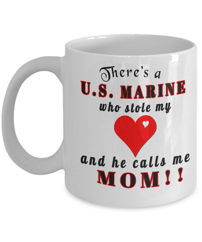 This marine stole my heart,mom coffee mug,personalized mug