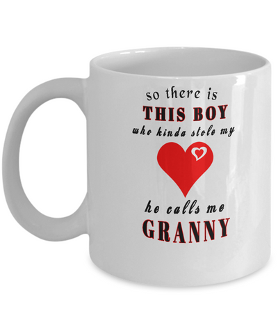 This boy stole my heart - Granny- White Mug