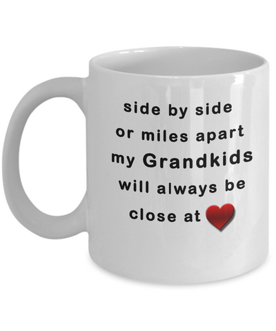 Close at Heart Grandkids 11 oz White Mug