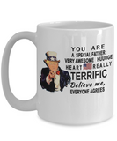 Funny Donald Trump Fathers Day Mug,You are a special father Trump,perfect Christmas Birthday gifts Donald Trump