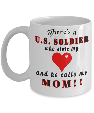 This soldier stole my heart,mom coffee mug,personalized mug