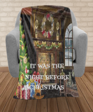 Christmas gift blanket,night before christmas,holiday gifts blanket