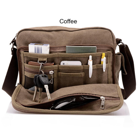 Bags- Multifunction Men's Crossbody Canvas Casual Travel Messenger Bags