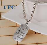 Pendant-Necklace-There Is A Girl She Stole My Heart Silver Necklace