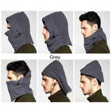 Hats-Winter Warm Fleece Beanies Hats For Men Skull Bandana Neck Warmer