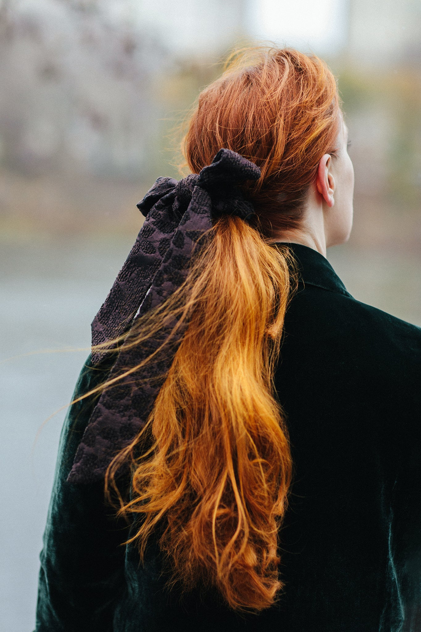 Eliza the Great Velvet Bow Scrunchie