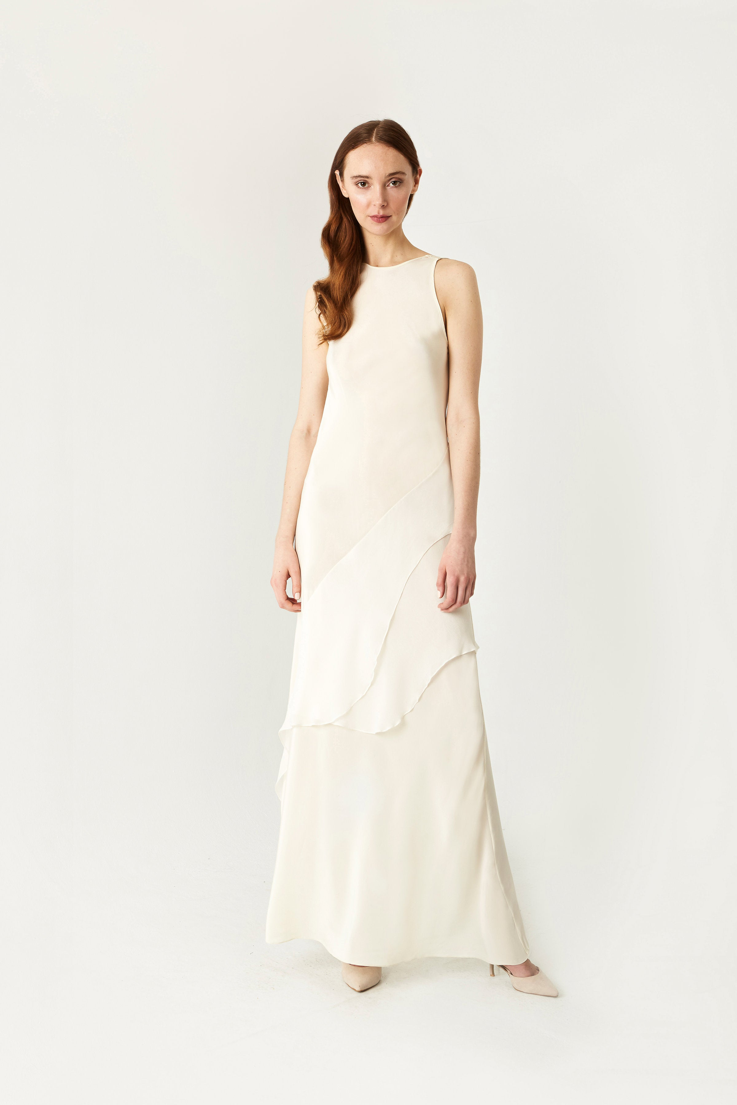 Ripple Bias Gown