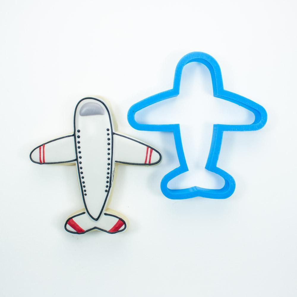 Frosted Cookie Cutter Airplane Cookie Cutter