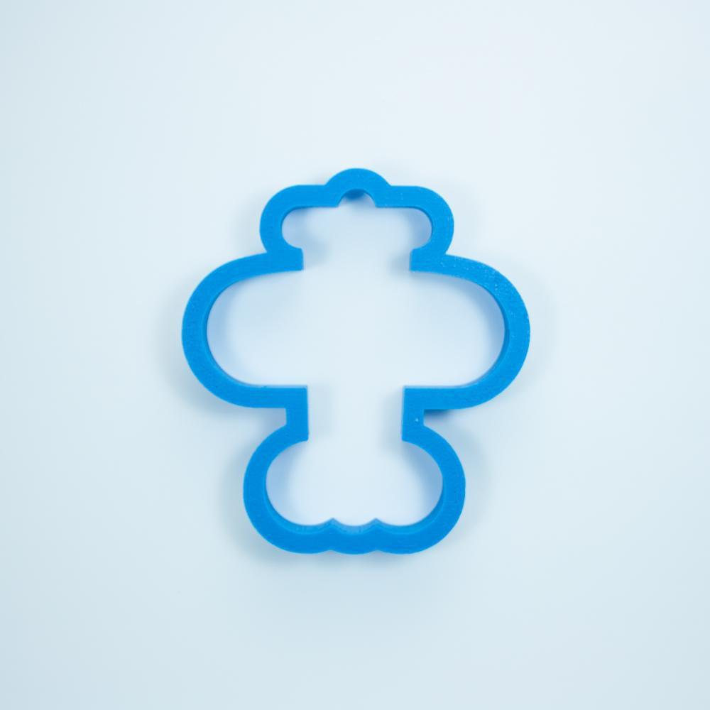 Frosted Cookie Cutter Airplane with Propeller Cookie Cutter