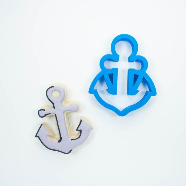Frosted Cookie Cutter Anchor Cookie Cutter