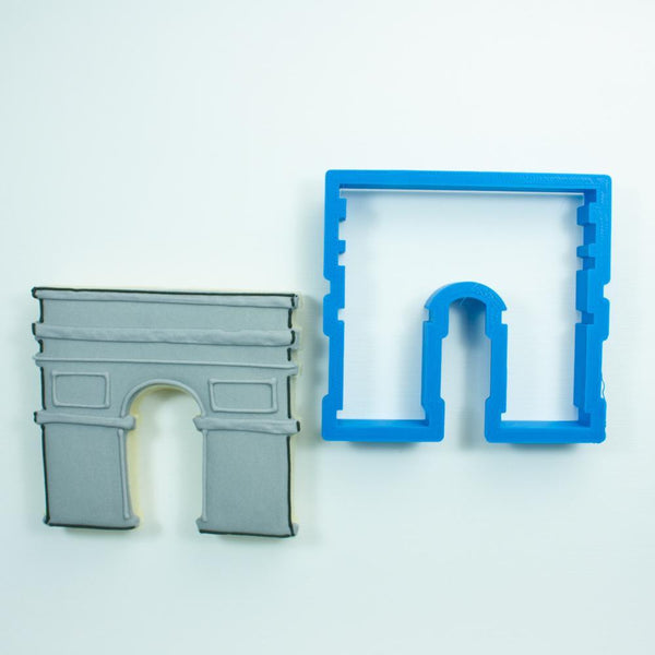 Frosted Cookie Cutter Arc de Triomphe Cookie Cutter