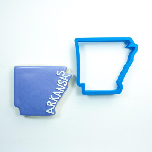 Frosted Cookie Cutter Arkansas Cookie Cutter