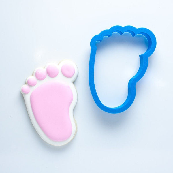 Frosted Cookie Cutter Baby Foot Cookie Cutter (Left Foot)