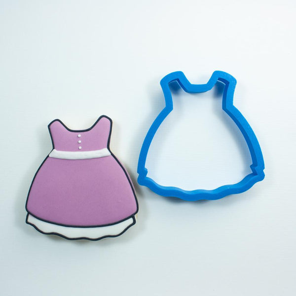 Frosted Cookie Cutter Baby Girl Dress Cookie Cutter