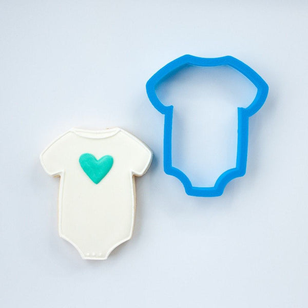 Frosted Cookie Cutter Baby One Piece Cookie Cutter