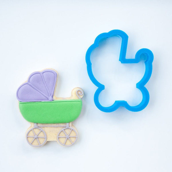 Frosted Cookie Cutter Baby Stroller Cookie Cutter