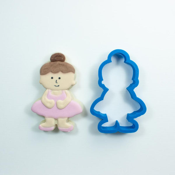 Frosted Cookie Cutter Ballerina Cookie Cutter