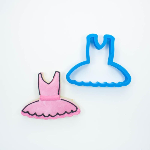 Frosted Cookie Cutter Ballerina Tutu Cookie Cutter