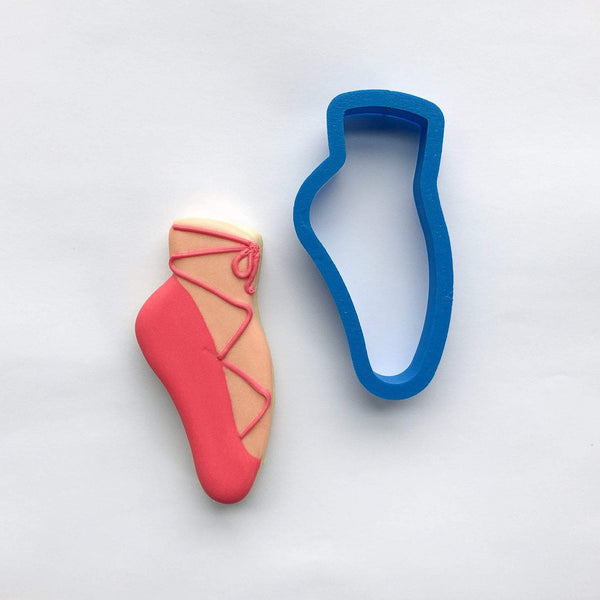 Frosted Cookie Cutter Ballet Slipper Cookie Cutter