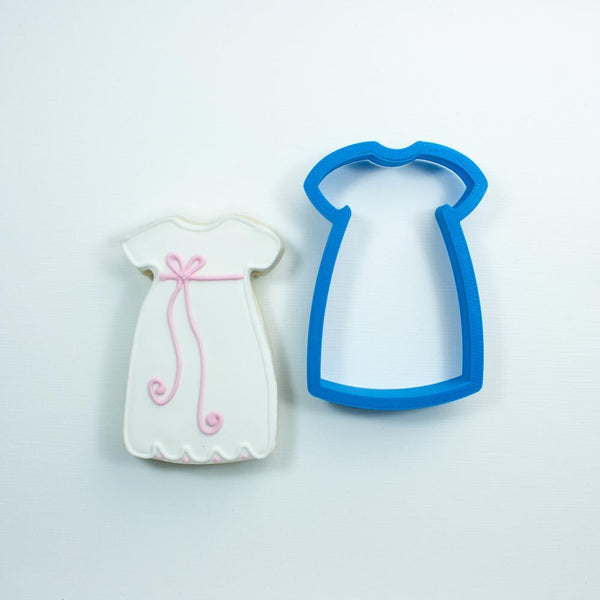 Frosted Cookie Cutter Baptism Gown Cookie Cutter