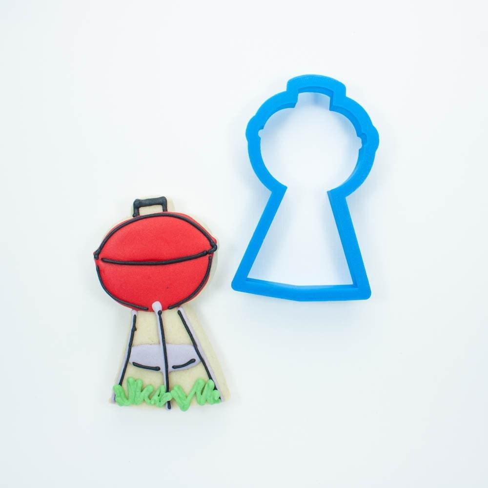 Frosted Cookie Cutter Barbecue Set - Grill, Beer Bottle, Hamburger, Hot Dog, and Watermelon Cookie Cutters