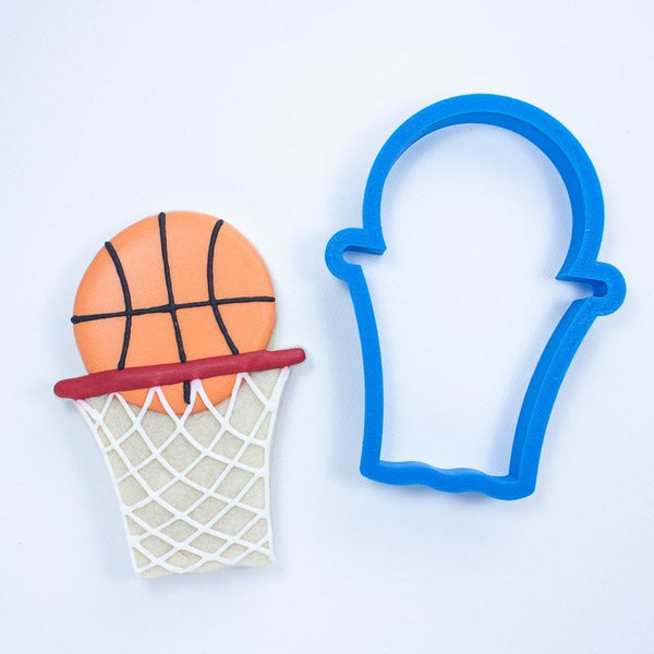 Frosted Cookie Cutter Basketball Hoop With Net Cookie Cutter