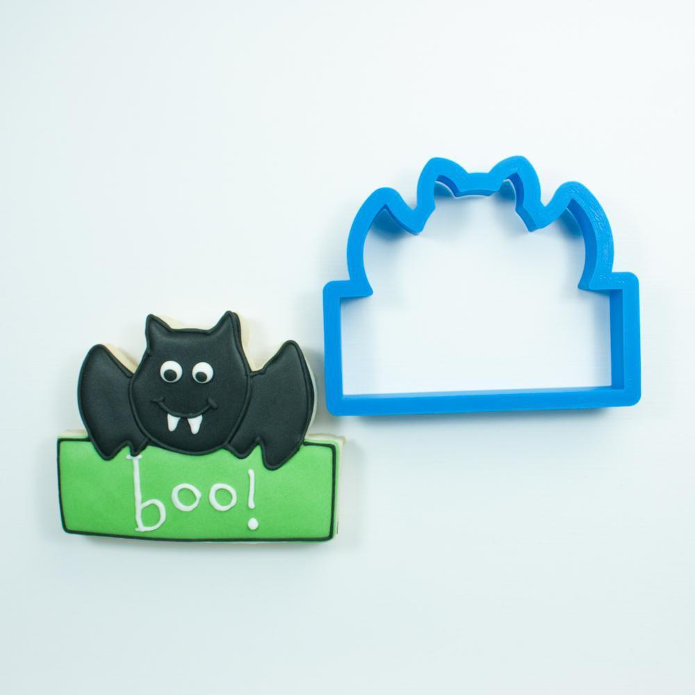 Frosted Cookie Cutter Bat Plaque Cookie Cutter