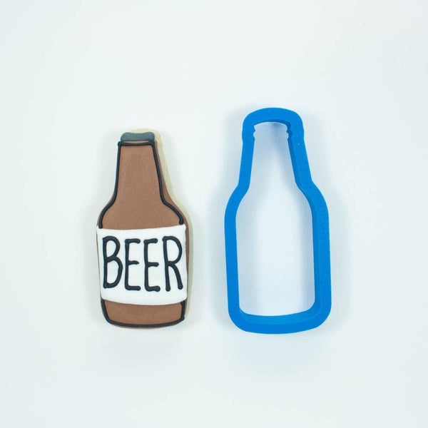 Frosted Cookie Cutter Beer Bottle Cookie Cutter