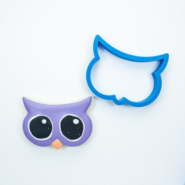 Frosted Cookie Cutter Big Eyes Owl Cookie Cutter