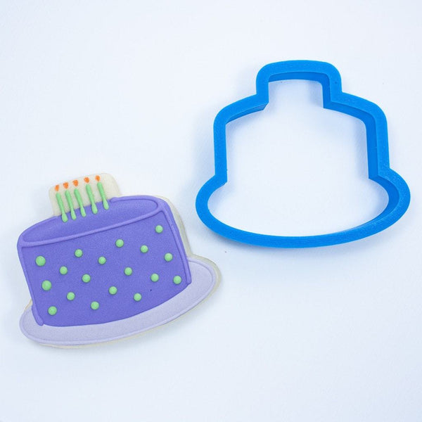 Frosted Cookie Cutter Birthday Cake Cookie Cutter
