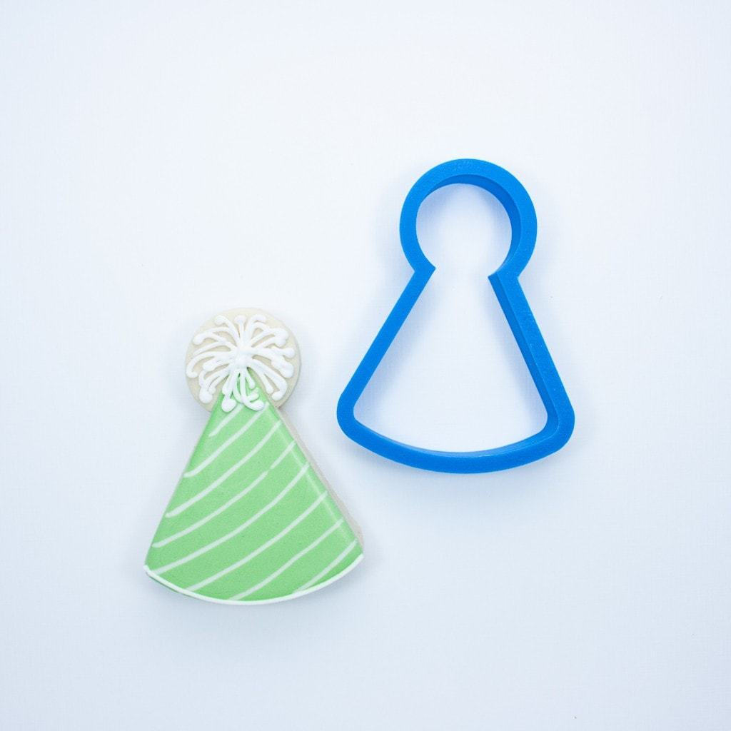Frosted Cookie Cutter Birthday Hat Cookie Cutter