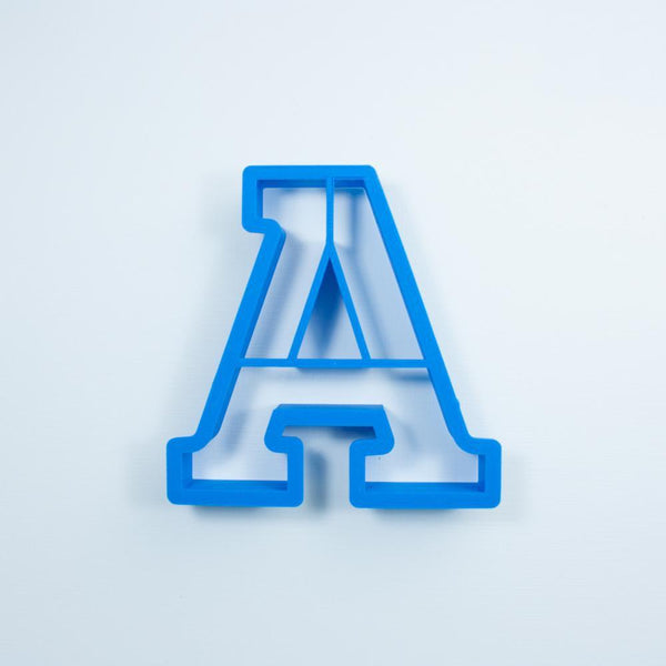 Frosted Cookie Cutter Block Letter A Cookie Cutter