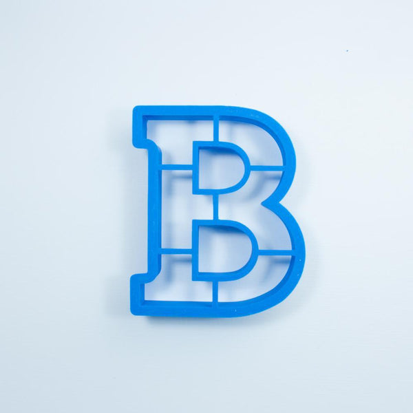 Frosted Cookie Cutter Block Letter B Cookie Cutter