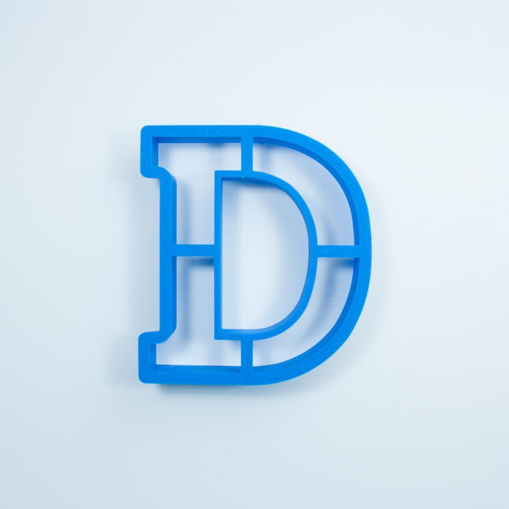 Frosted Cookie Cutter Block Letter D Cookie Cutter